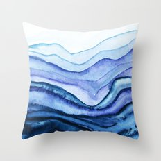 Washed Away Watercolor Throw Pillow