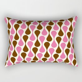 Retro pattern pink and brown Rectangular Pillow