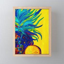 Blue Pineapple Abstract Framed Mini Art Print