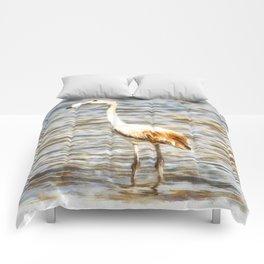 Pretty Flamingo Fledgling Watercolor Comforters