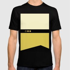 Data - Minimalist Star Trek TNG The Next Generation - Enterprise 1701 D - startrek - Trektangles Black Mens Fitted Tee MEDIUM