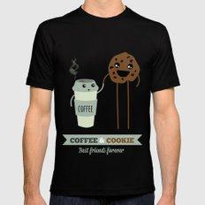 COFFEE & COOKIE Mens Fitted Tee Black MEDIUM