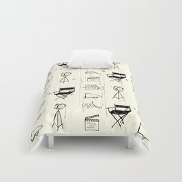 Filmmaking Pattern // Ink Drawing Comforters