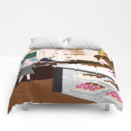 FASHIOINISTA CATS CUP CAKE Comforters