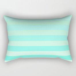 Green Teal Stripe Fade Rectangular Pillow