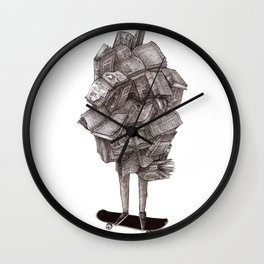 all about sk8 Wall Clock