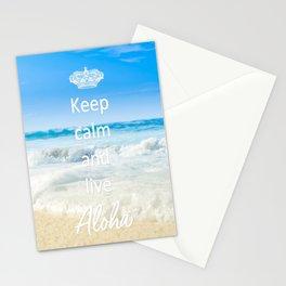 keep calm and live Aloha Stationery Cards