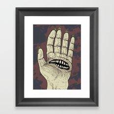 Hungry Hand Framed Art Print