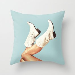 These Boots - Blue Throw Pillow