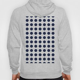 Simply Polka Dots in Nautical Navy Blue Hoody