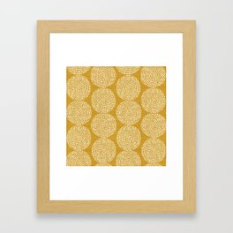 Beech in Gold Framed Art Print