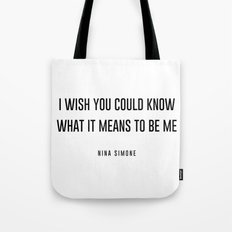I wish you could know Tote Bag