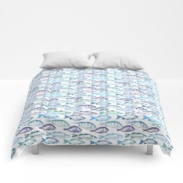 Blue Fish Comforters
