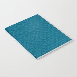 Blue (Bleu) Tres Petit Geometric Pattern Notebook
