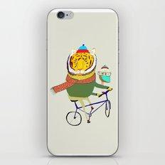 Tiger and Owl biking. iPhone & iPod Skin