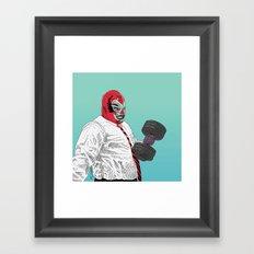 Lucha Wayne Framed Art Print