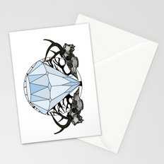 Diamond and skulls Stationery Cards