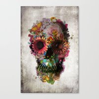 contact Canvas Prints featuring SKULL 2 by Ali GULEC