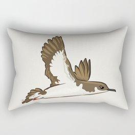 Simple Minimalist Manx Shearwater Flying Rectangular Pillow