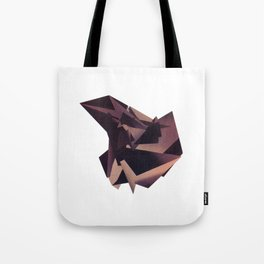 3D purple flying object Tote Bag