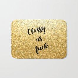 Gold Classy as fuck Bath Mat