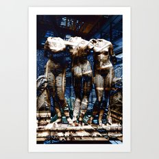 3 cyborg graces Art Print