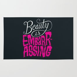 Beauty is Embarrassing  Rug