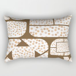 Expressive Windows of Brown and Rust Dots Rectangular Pillow