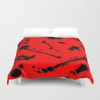 blood Duvet Covers featuring Blood by Holy Spoof