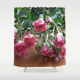 ROSES ARE LOVE Shower Curtain