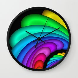 fractal and colorful -4- Wall Clock