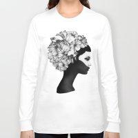 super mario Long Sleeve T-shirts featuring Marianna by Ruben Ireland