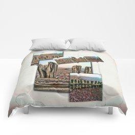 Porlock Beach Triptych. Comforters