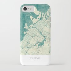 Dubai Map Blue Vintage Slim Case iPhone 7