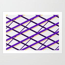 Deco Stripes Purple Art Print