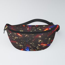 Abstract kaleidoscopic image. fractal pattern made with reflections. Fanny Pack