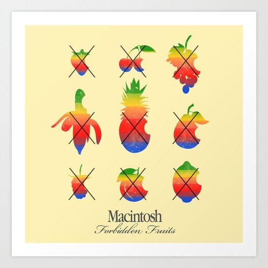 mac forbidden fruits Art Print