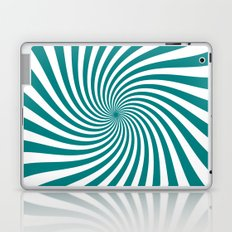 Swirl (Teal/White) Laptop & iPad Skin