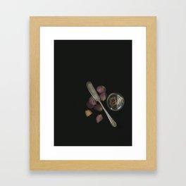 no fork, no knife Framed Art Print