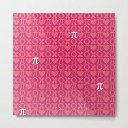 Hugs, Kisses, Love, and Pi - Pink  Metal Print