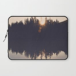 Wooded Lake Reflection  - Nature Photography Laptop Sleeve