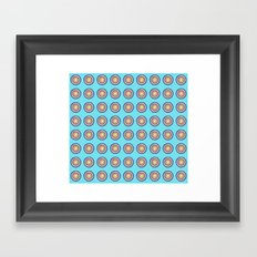 Tania Circle Repeat Framed Art Print