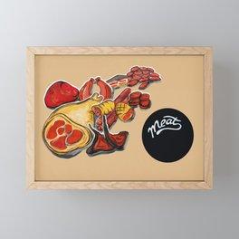 Red meat Framed Mini Art Print