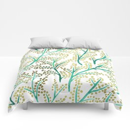 Green & Gold Branches Comforters