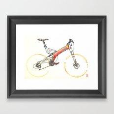 Coffee Wheels #07 Framed Art Print