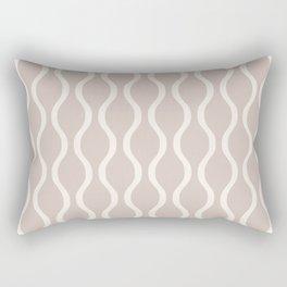 Classic Retro Ogee Pattern 732 Beige Rectangular Pillow