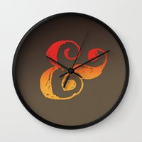 ampersand Wall Clocks featuring Ampersand by TheCore