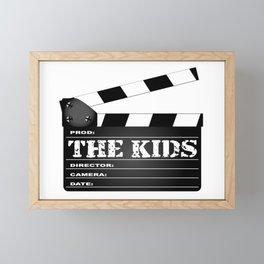 The Kids Clapperboard Framed Mini Art Print