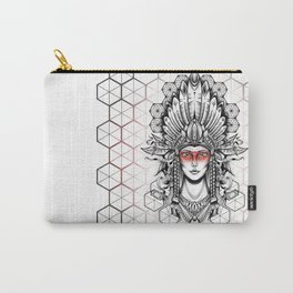 Geometric Indian Carry-All Pouch