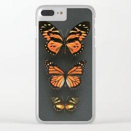 Orange Butterflies Clear iPhone Case